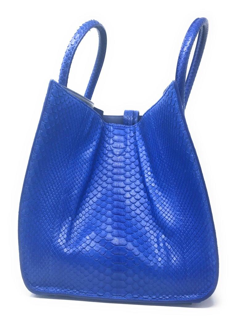 Women's or Men's Celine Phantom Blue Python Bag For Sale