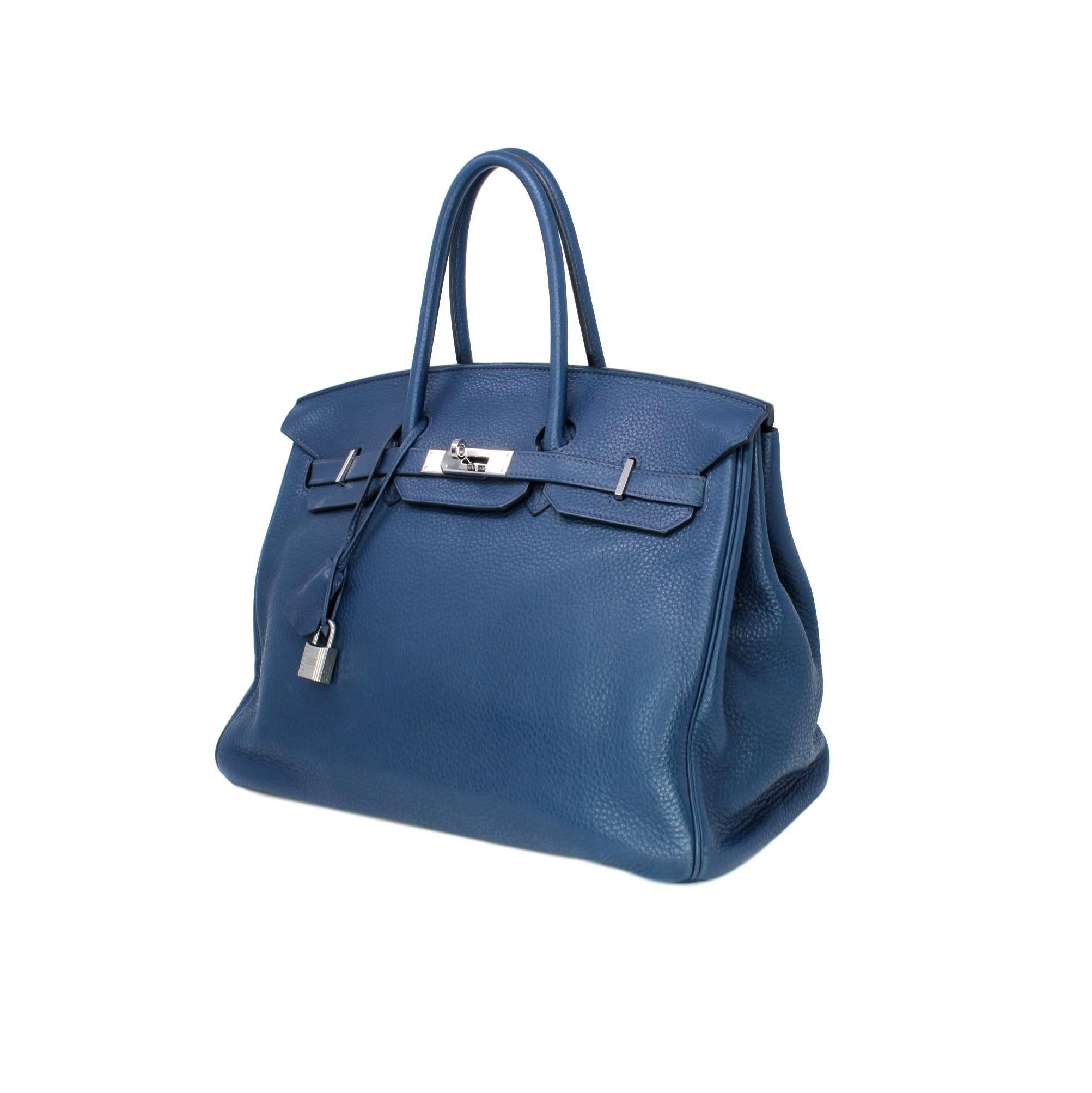 a9eb2022d1c ... best a great neutral this hermes birkin bag in navy blue togo leather  may be used