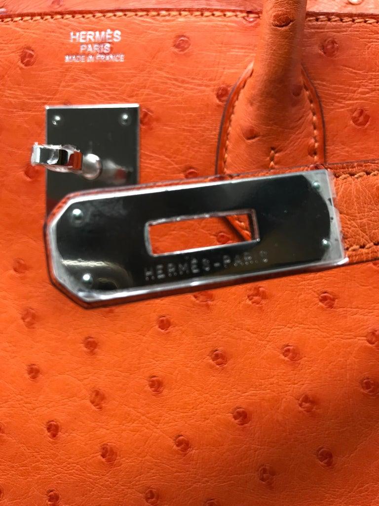 7eda4473b663 Hermes Birkin 30cm Tangerine Orange Ostrich at 1stdibs