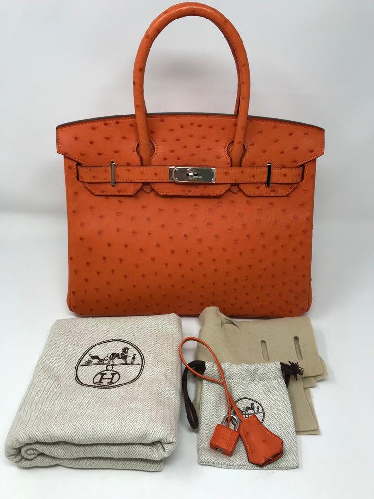 216874a15965 Hermes Birkin 30cm Tangerine Orange Ostrich at 1stdibs