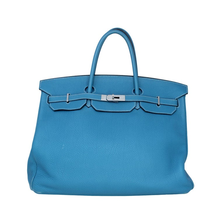 030cac19db Hermes Birkin 40cm Blue Jean For Sale at 1stdibs