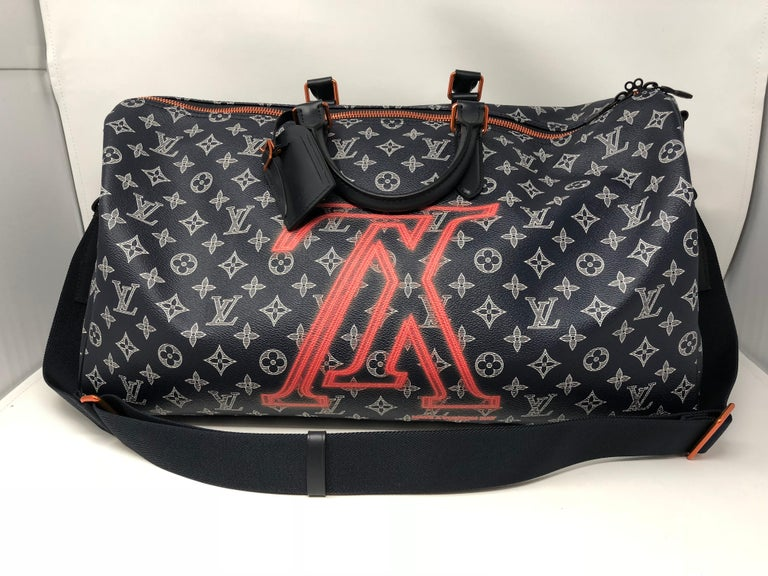 2ac5888ca10a Louis Vuitton Upside Down Keepall Bandouliere 50 with strap. From Kim Jones  2018 Fall