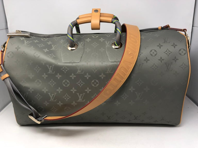 e71e72d17aee Louis Vuitton Titanium Monogram 50 Grey Keepall Bandouliere. Brand new and  never used. From