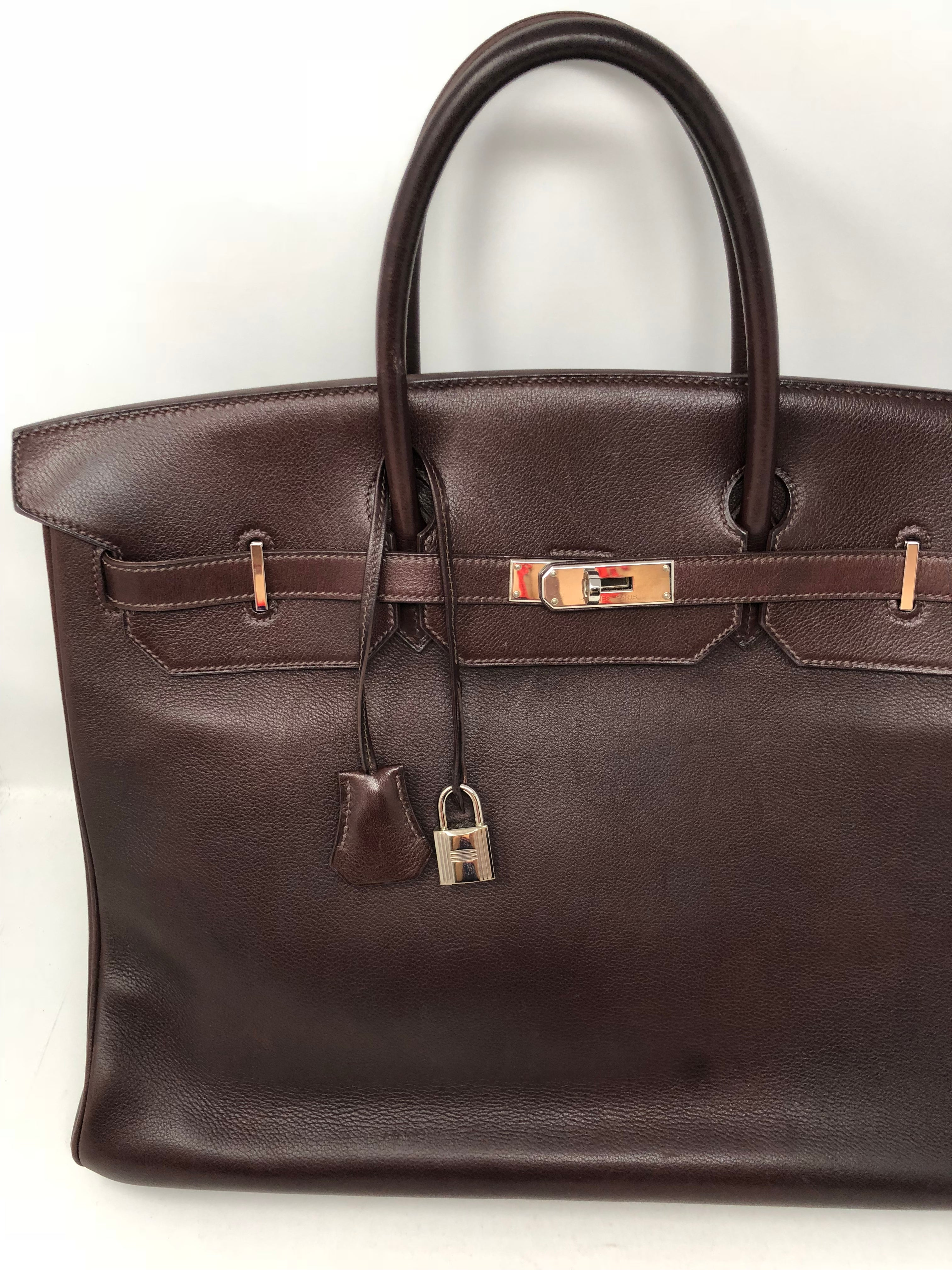 8f9d3fefd03e Hermes Rouge Palladium Hardware Birkin 40 Bag For Sale at 1stdibs