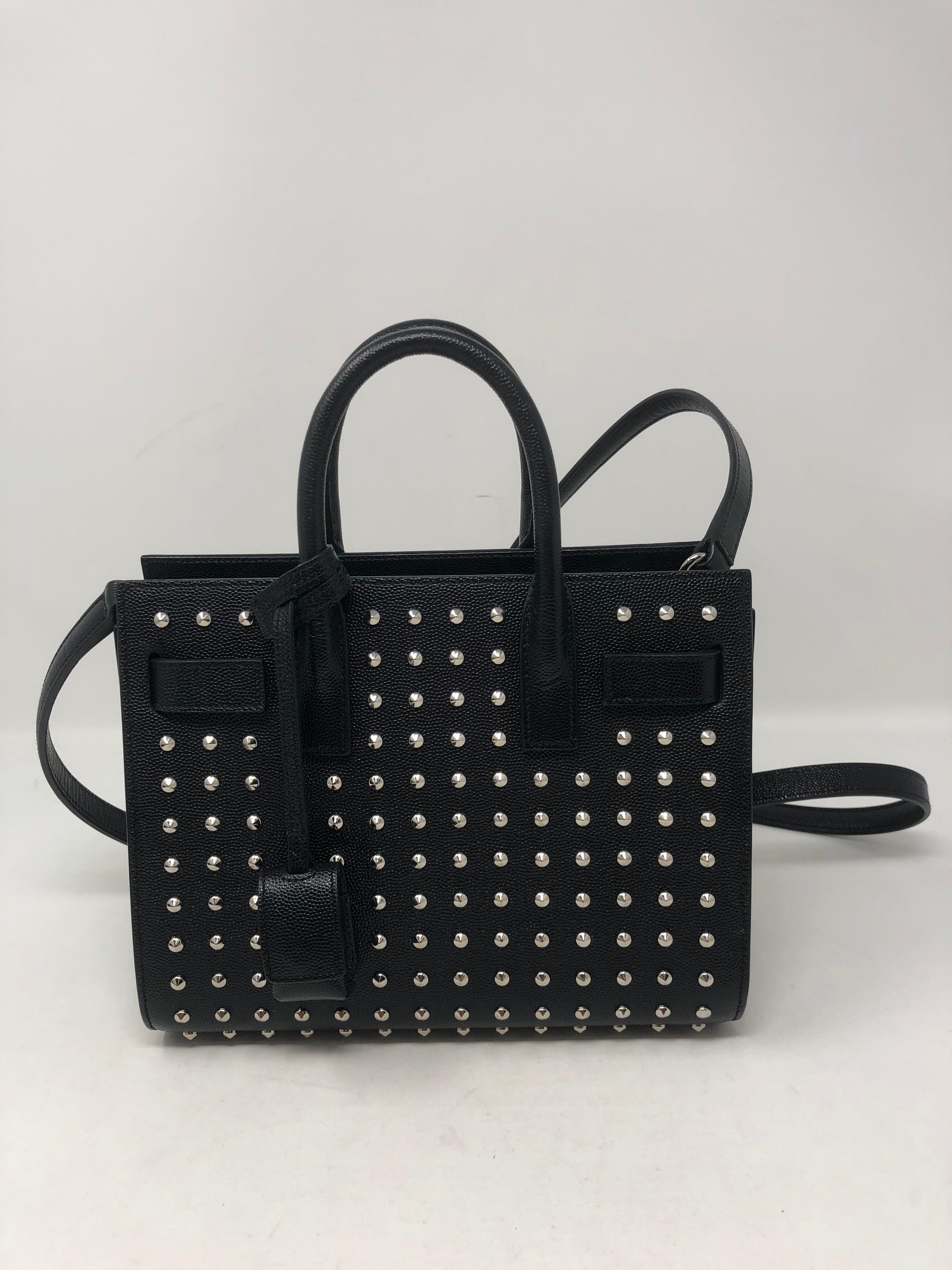 7b7cc26baf Yves Saint Laurent Black Studded Nano Sac Du Jour Bag For Sale at 1stdibs
