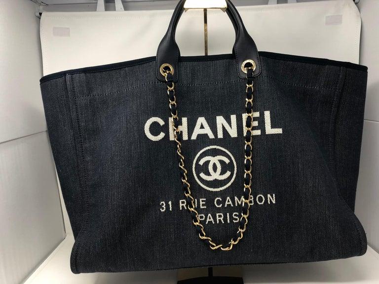 f08993e1e10f Chanel Deauville Tote XL Bag at 1stdibs