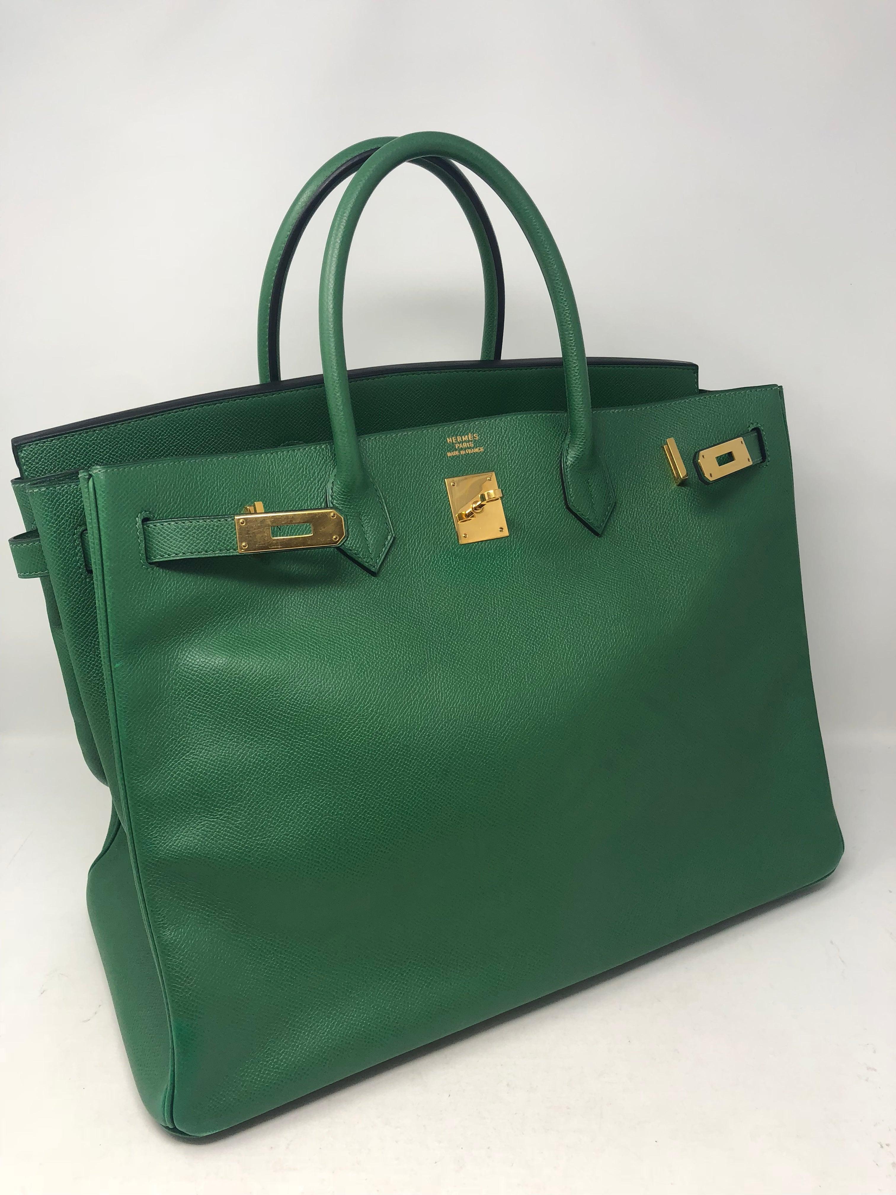 0e9b6a5e29 Hermes Birkin 40 Green For Sale at 1stdibs