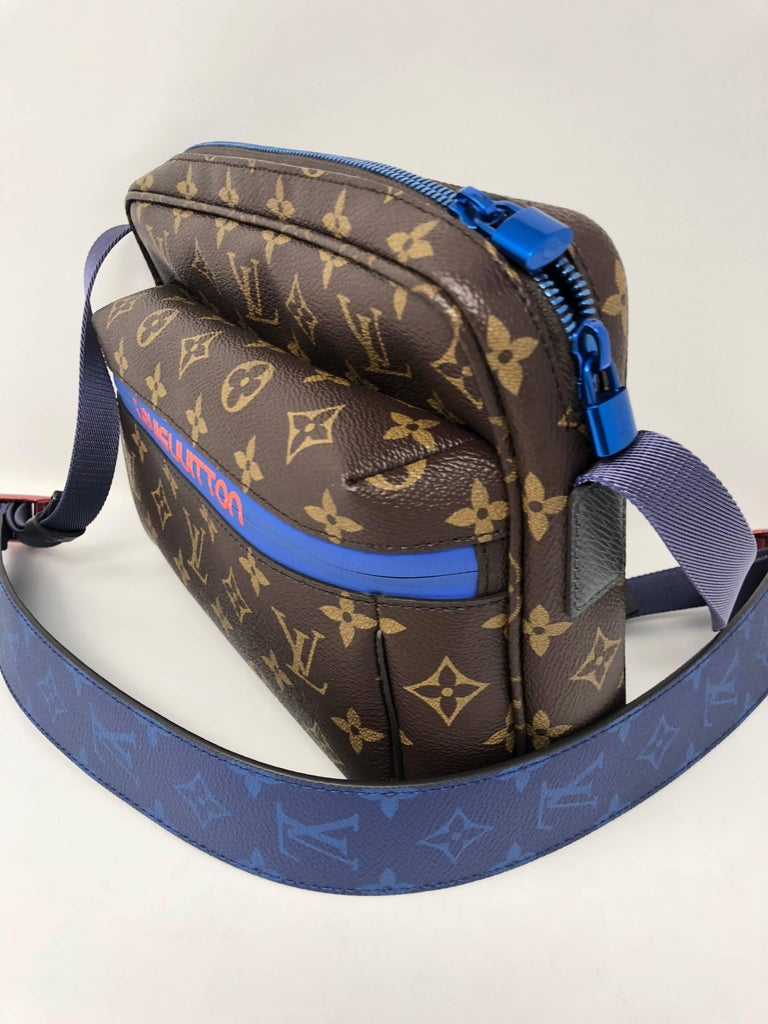 Louis Vuitton Messenger Pm Monogram Outdoor Blue Pacific