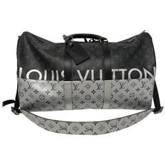 Louis Vuitton Monogram Eclipse Split Keepall 50 Bandouliere