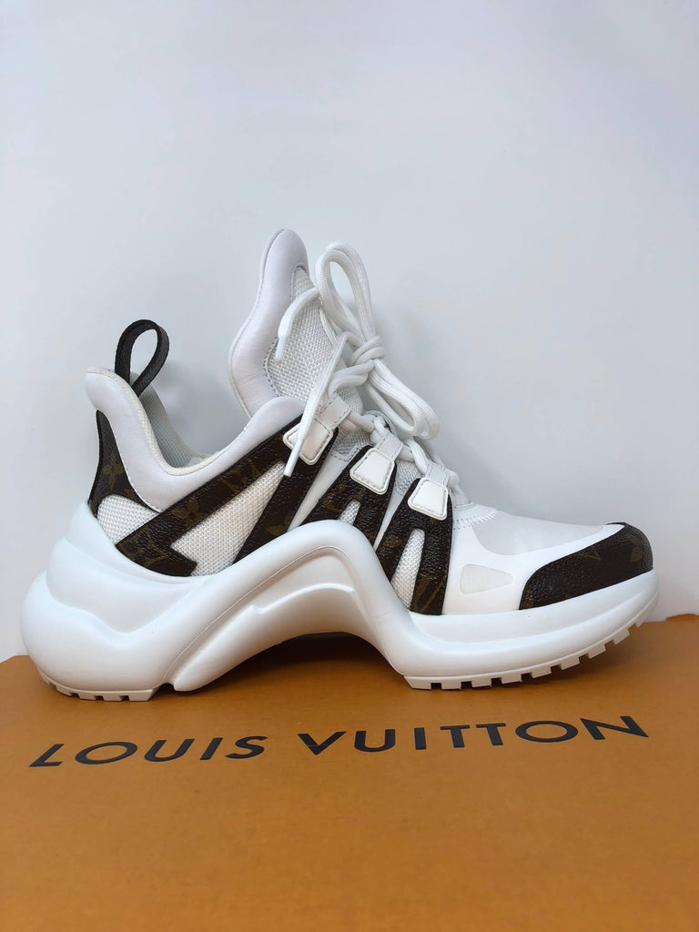 Louis Vuitton Cloth Trainers For Sale 10