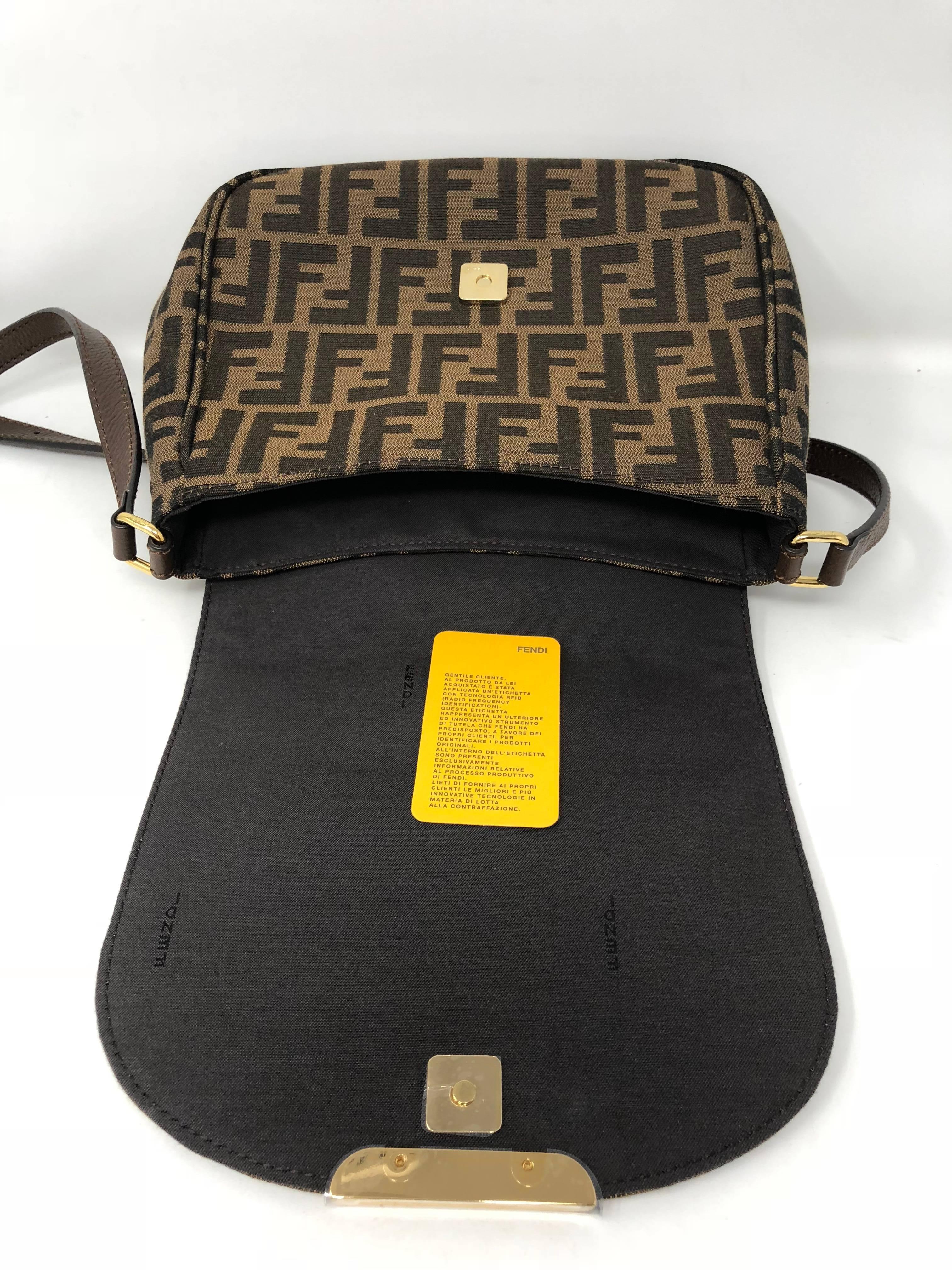 a442a7e73dc2 Fendi Zucca Crossbody Bag at 1stdibs