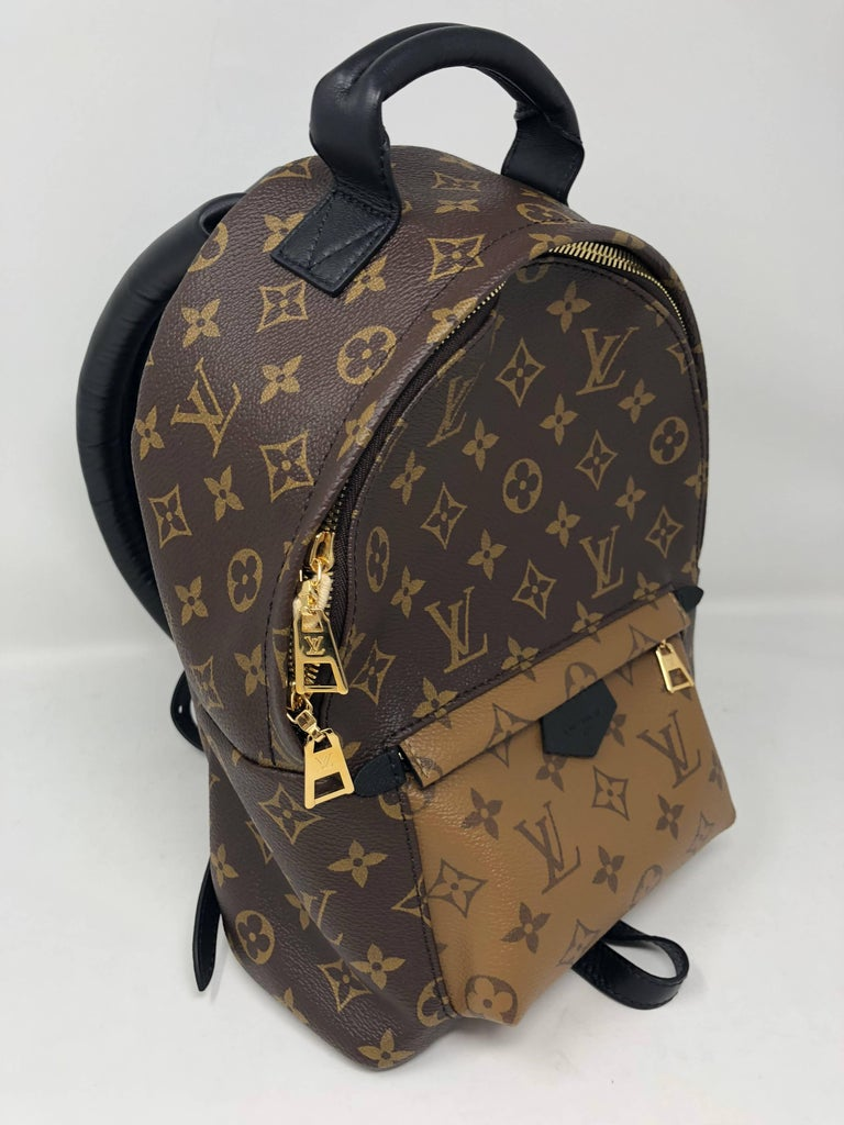 Black Louis Vuitton Reverse Palm Springs Backpack PM For Sale