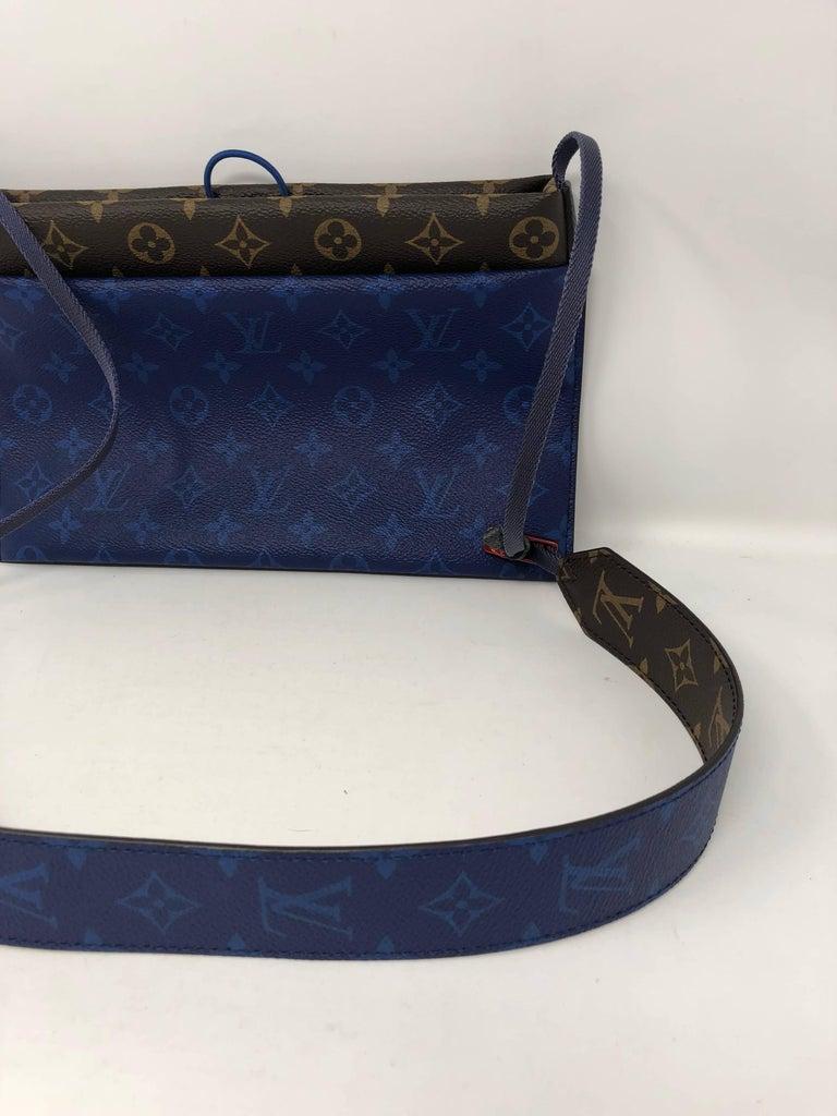 1a0fadbf89c Louis Vuitton Pacific Blue Outdoor Pouch Crossbody