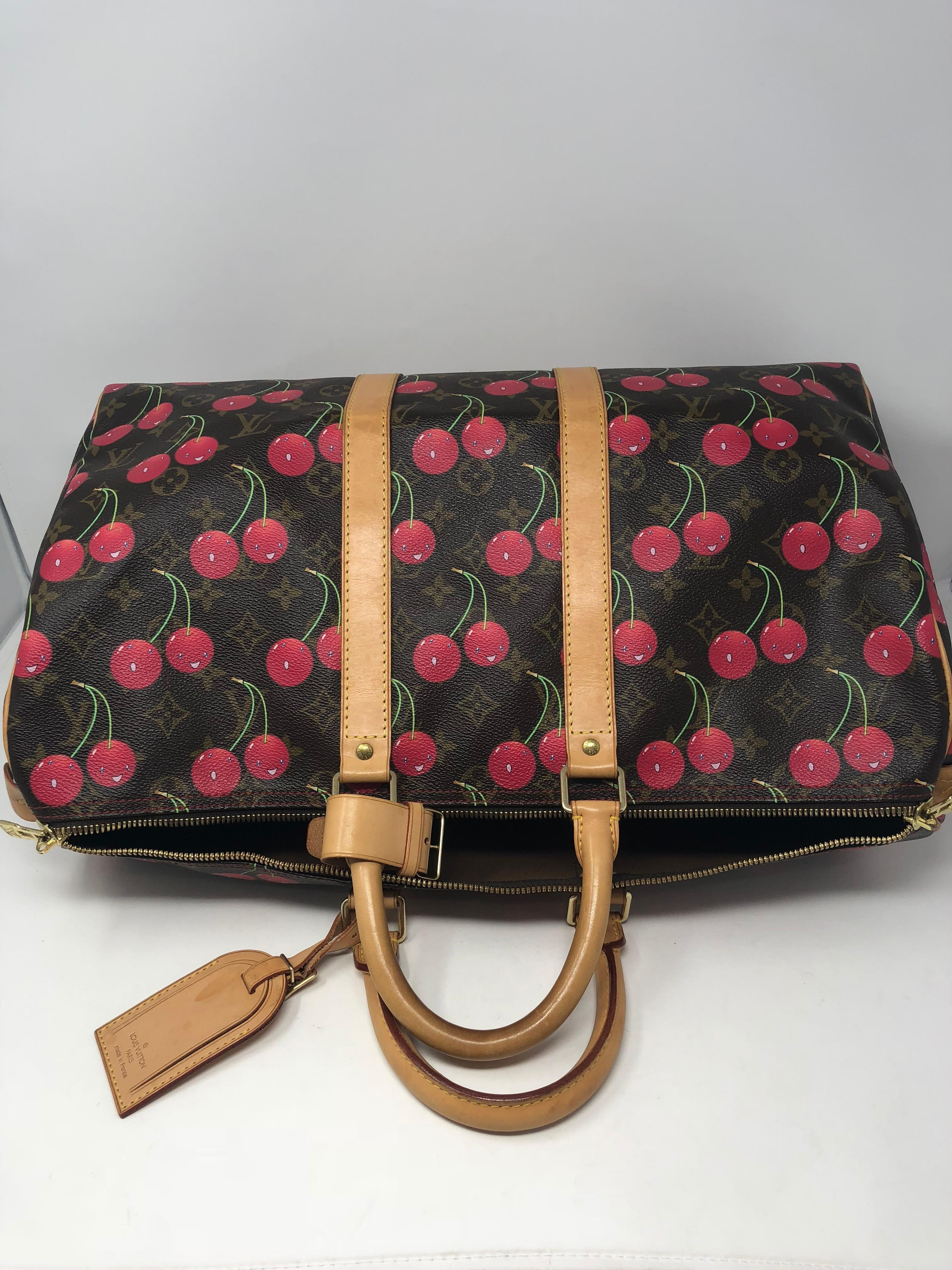 913f3f6da43b Louis Vuitton Monogram Cerises Cherry Keepall 45 Travel Bag at 1stdibs