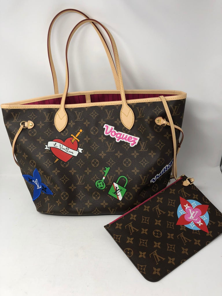 1028570f160b Louis Vuitton Neverfull Travel Patches Collection 2018. This limited  edition tote is brand new and