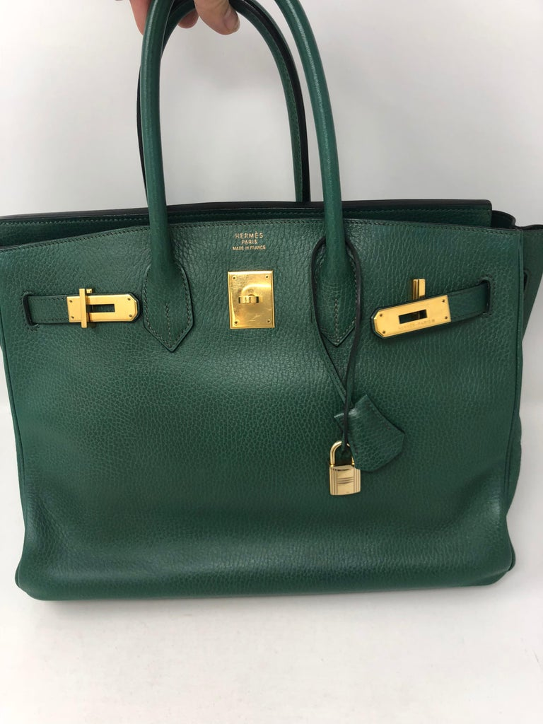 Women s or Men s Hermes Green Vert Bengale Birkin 35 Bag For Sale 3790a2449f
