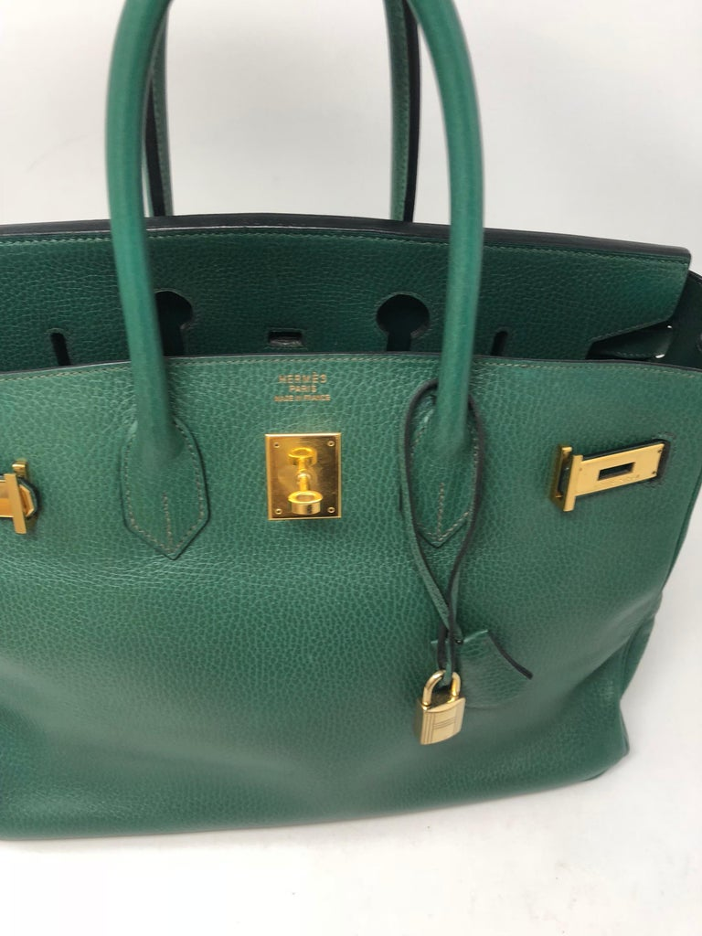 Black Hermes Green Vert Bengale Birkin 35 Bag For Sale 9d8260adba