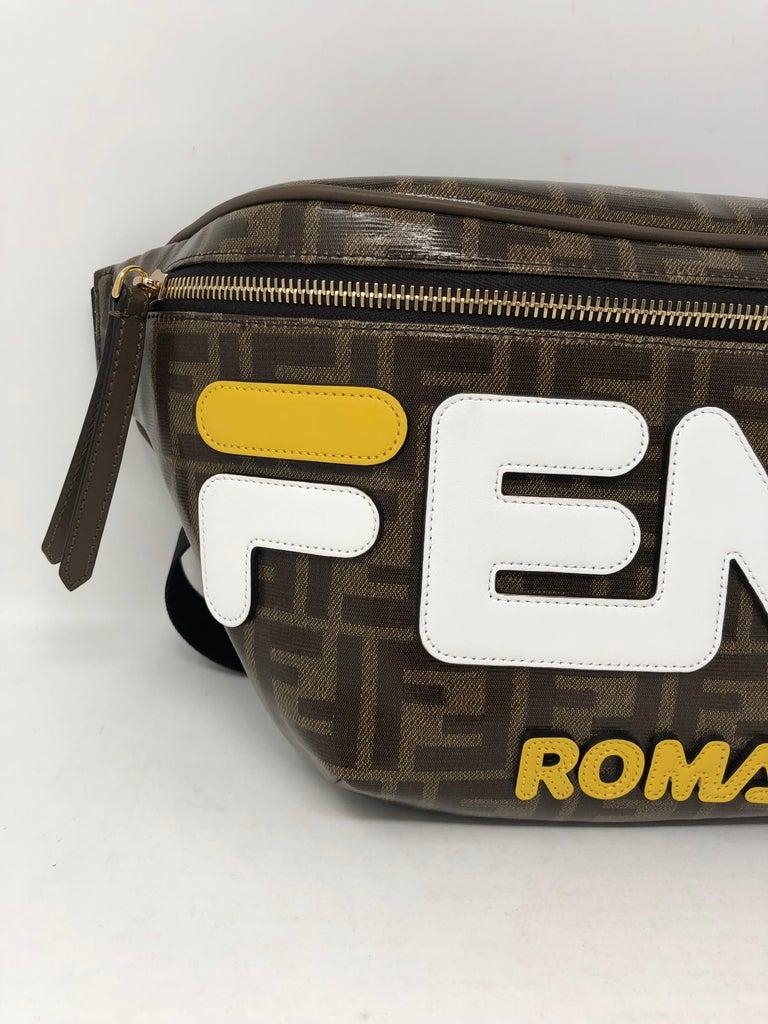 986151d0e1d8 Fendi X Fila Logomania Bumbag For Sale. Fendi and Fila collaboration Bumbag.  This canvas glazed belt bag has Fendi written all over