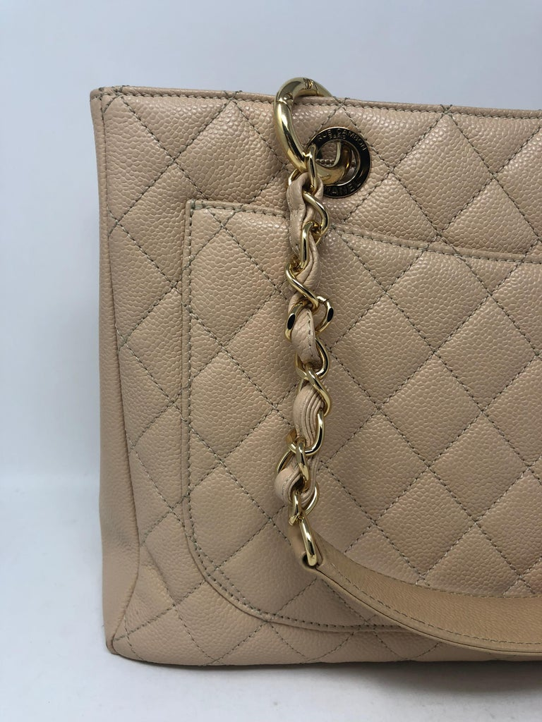 1e82d7aa491e00 Chanel Cream Grand Shopper Tote For Sale 1