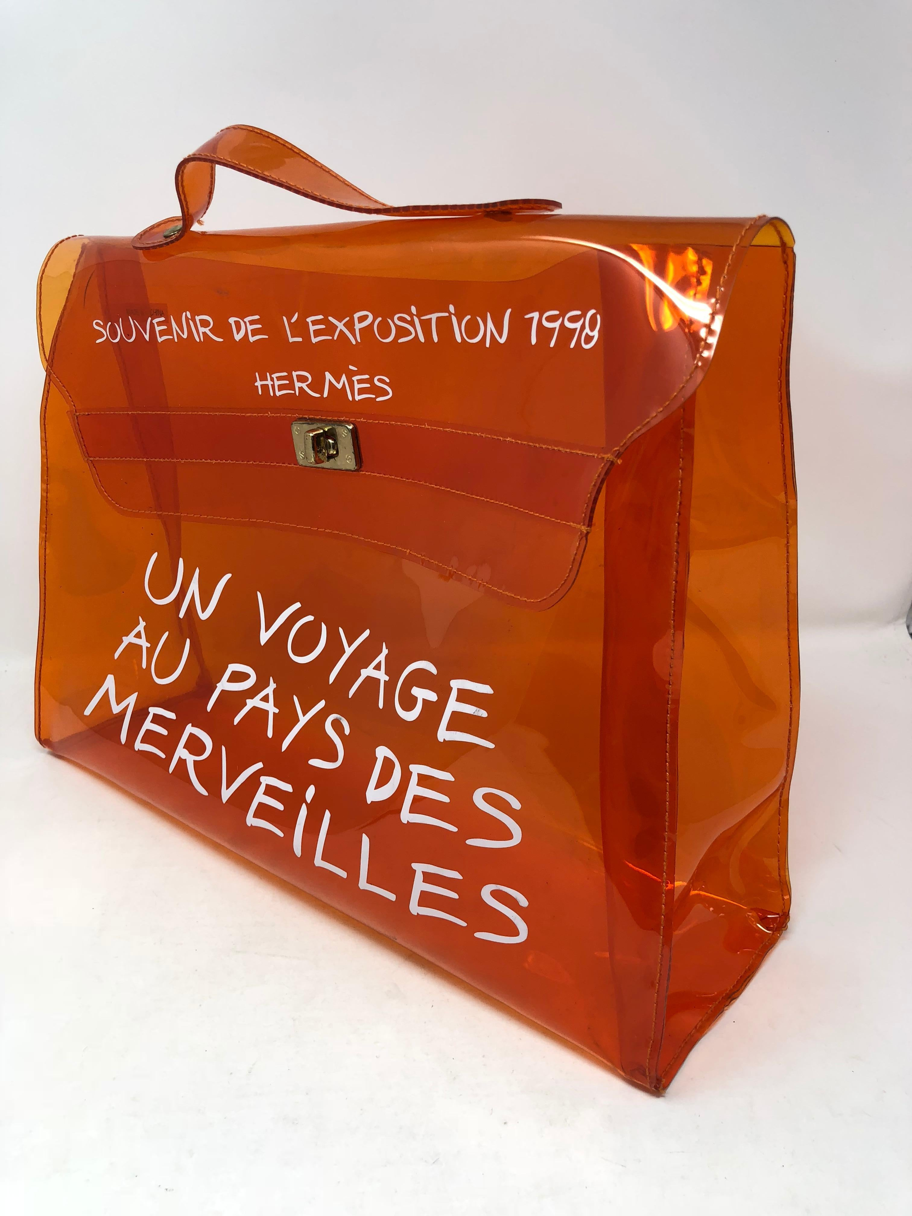 1b1488d3622 Hermes Vintage Kelly Souvenir De L Exposition Transparent Bag at 1stdibs
