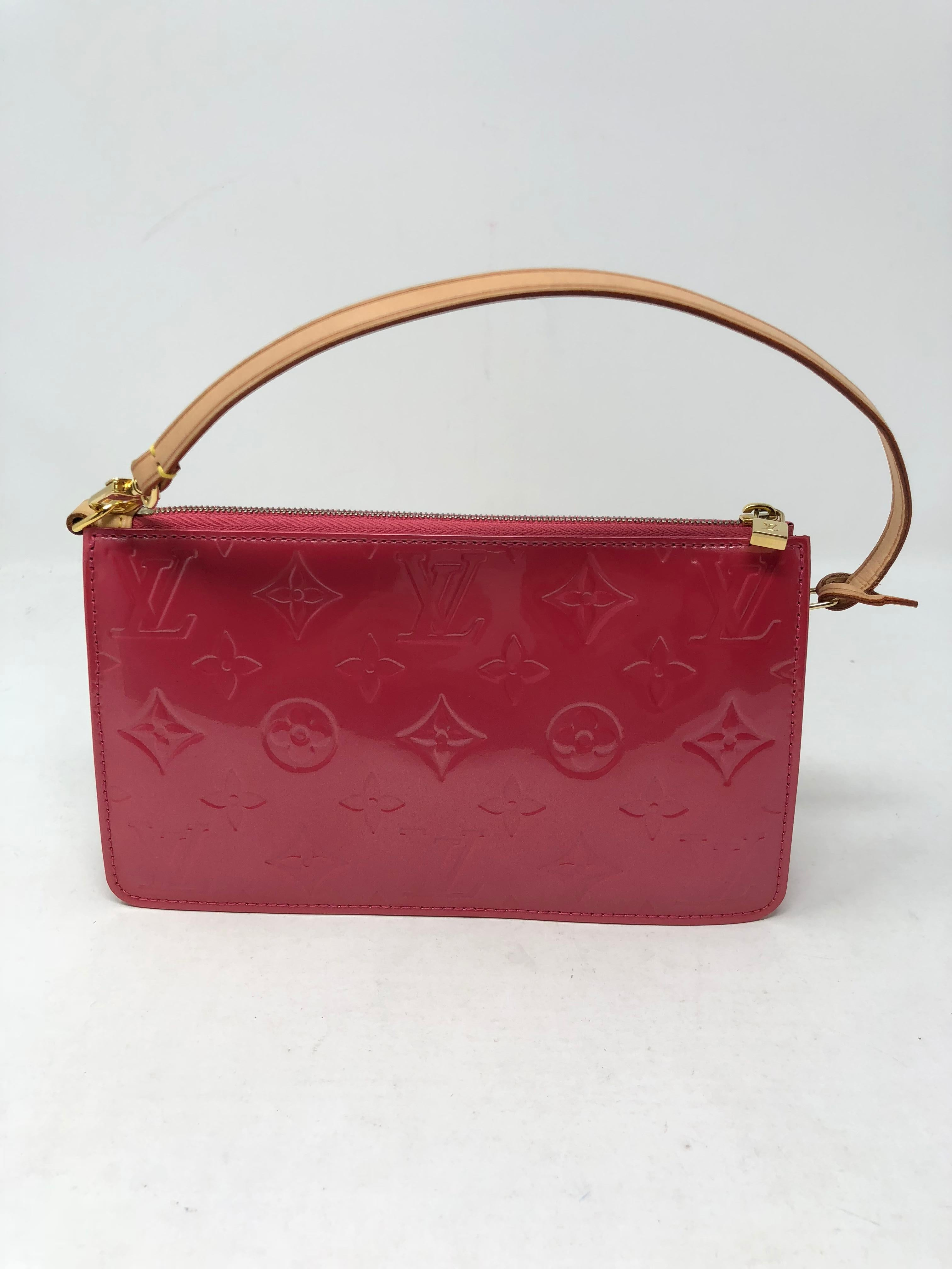 Louis vuitton lexington pochette monogram vernis pink leather wristlet like  new condition can jpg 768x1024 Pink d7f46e9d28fa1