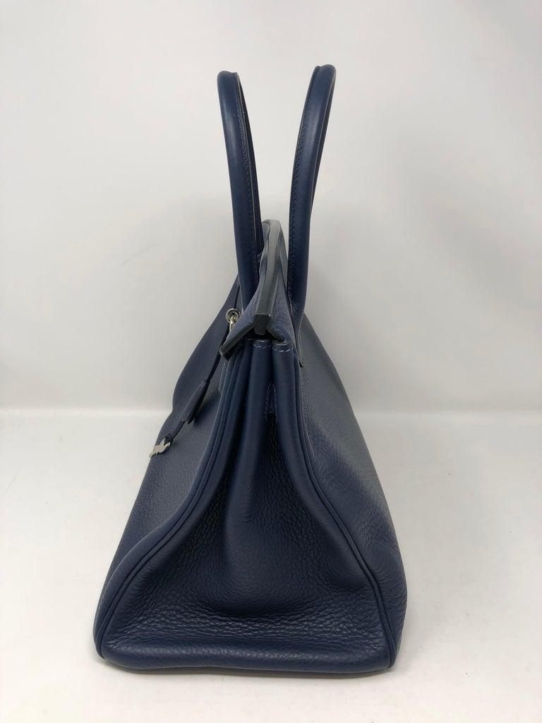 Hermes Bleu Abysse Palladium Hardware Birkin 35 Bag For Sale 2