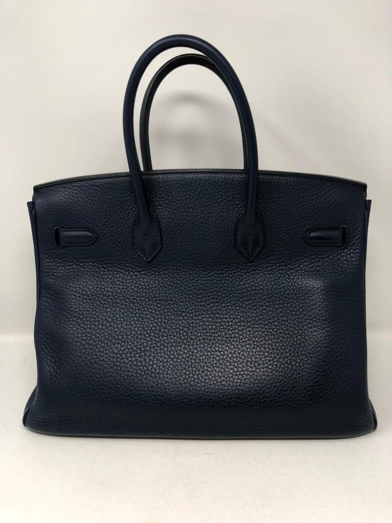 Hermes Bleu Abysse Palladium Hardware Birkin 35 Bag For Sale 3