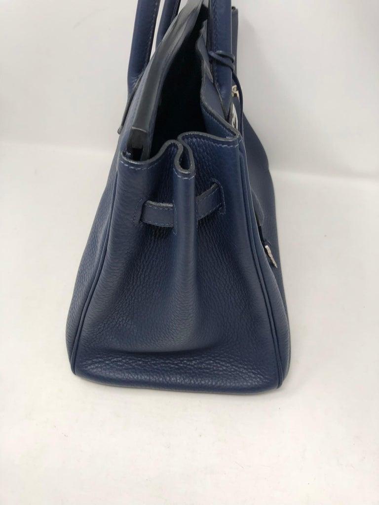 Hermes Bleu Abysse Palladium Hardware Birkin 35 Bag For Sale 7