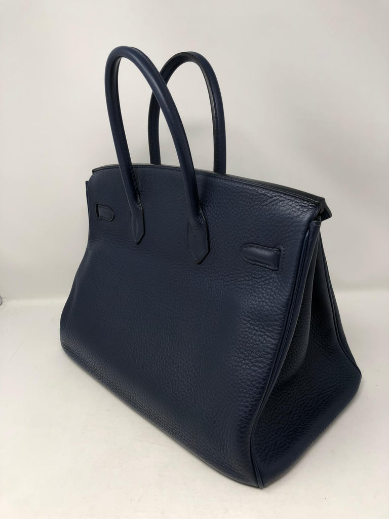 Hermes Bleu Abysse Palladium Hardware Birkin 35 Bag For Sale 1