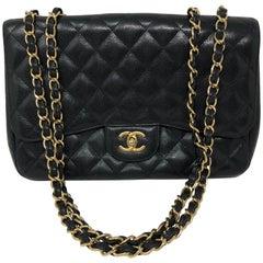 Chanel Black Caviar Jumbo Bag