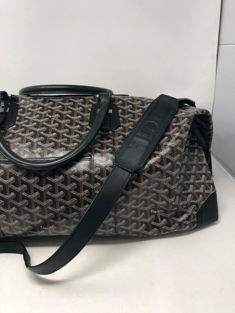 Black Goyard 55 Duffel Bag  For Sale