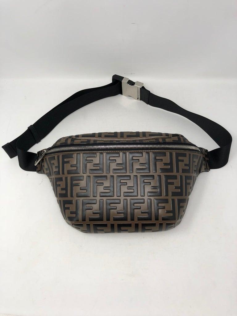 1e3142f480f16 Fendi Embossed Belt Bag