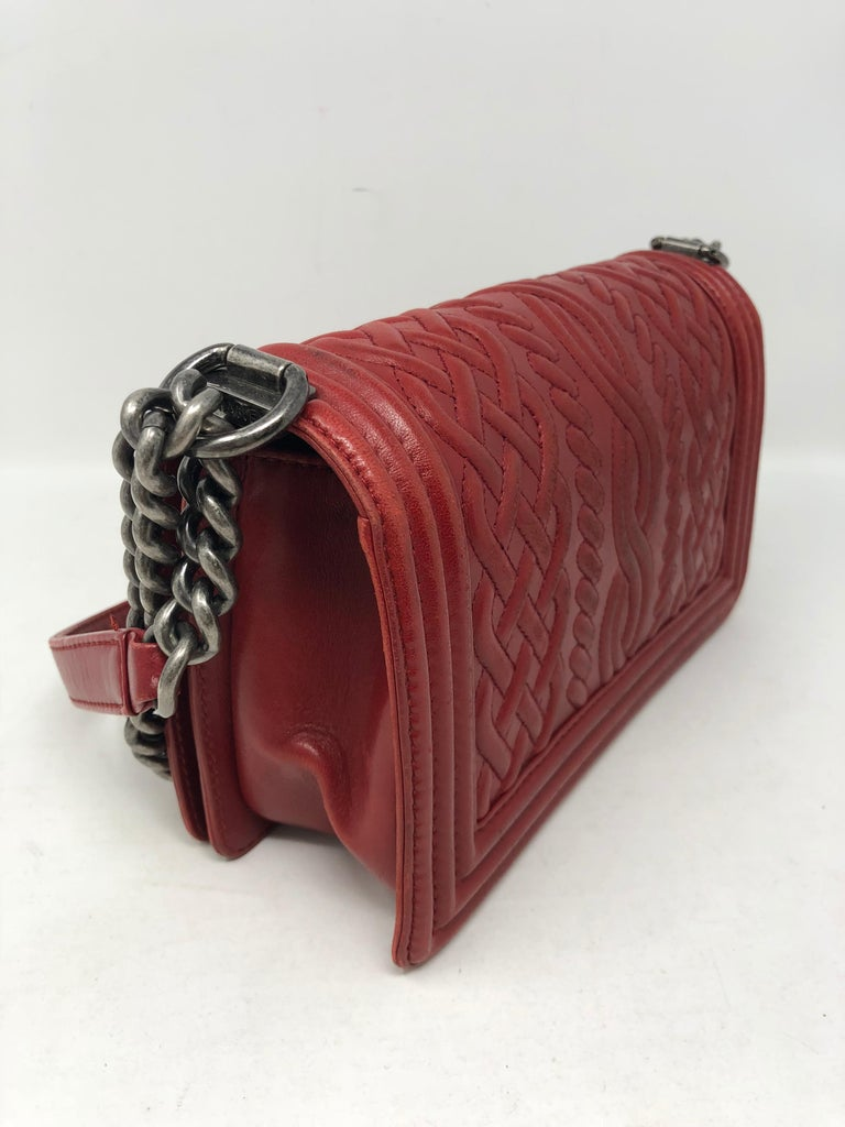 993b10f8b69e Red Chanel Limited Edition Boy Bag For Sale 1