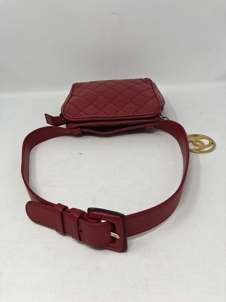 ff6a0bfe168a Red Chanel Fanny Pack/ Belt For Sale 5