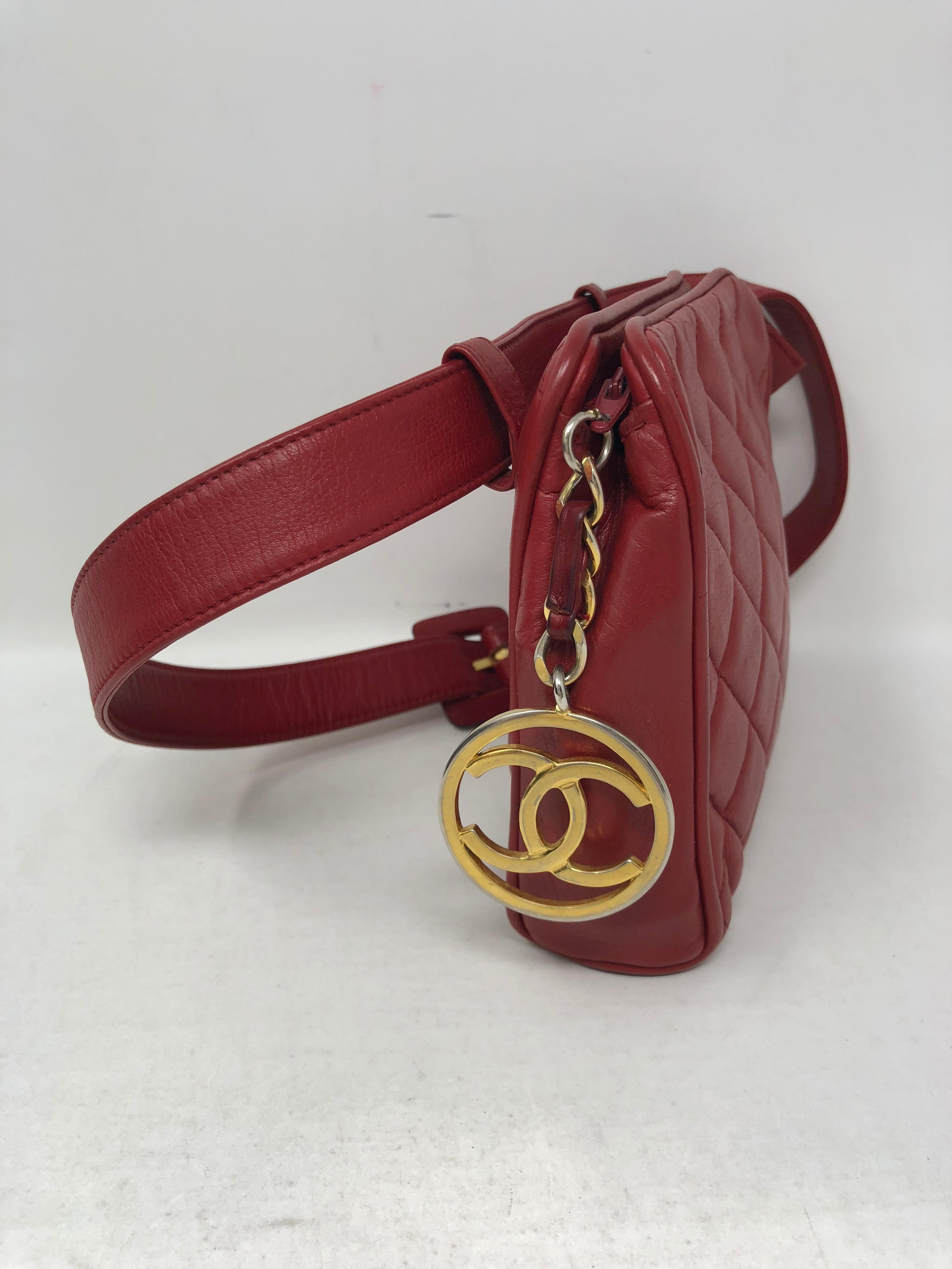 b4c3b1b55423 Red Chanel Fanny Pack/ Belt at 1stdibs