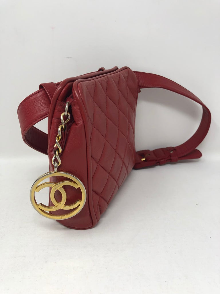 5a63d3f5936e Red Chanel Fanny Pack/ Belt For Sale 3
