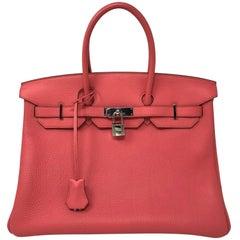 Hermes Bubblegum Pink Birkin 35 Bag