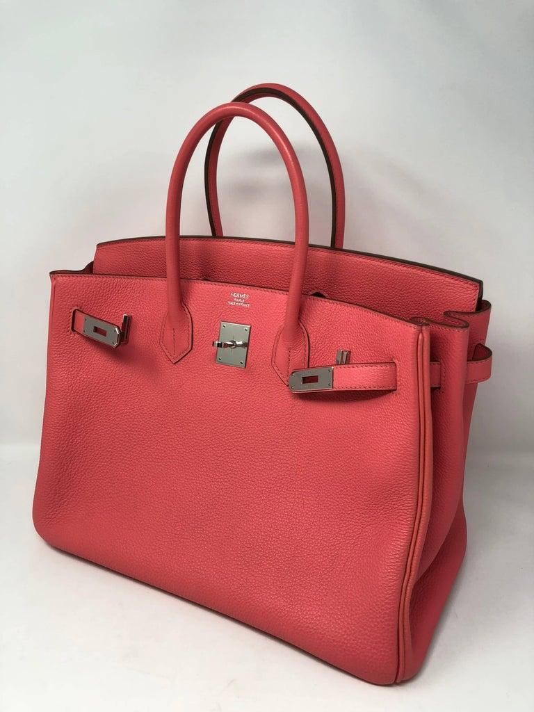 Hermes Bubblegum Pink Birkin 35 Bag In Excellent Condition In Athens, GA