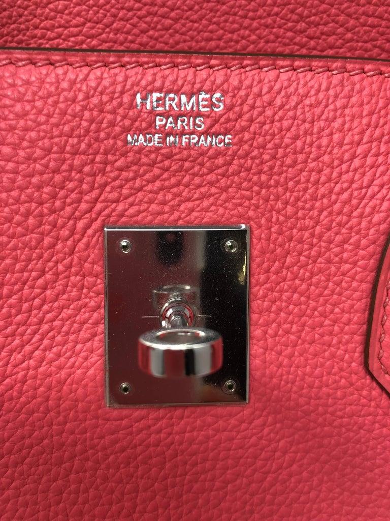 Hermes Bubblegum Pink Birkin 35 Bag 3