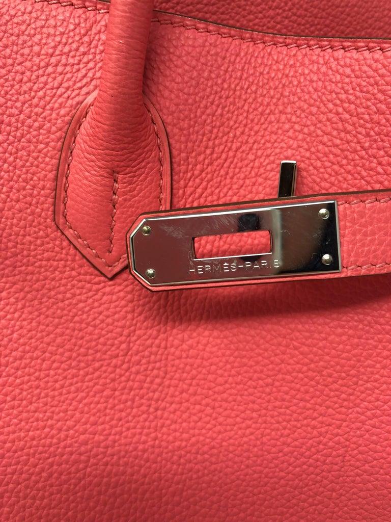 Hermes Bubblegum Pink Birkin 35 Bag 4