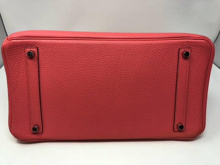 Hermes Bubblegum Pink Birkin 35 Bag 5