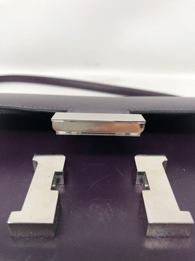 Hermes Mini Constance 18 Purple Bag For Sale 7