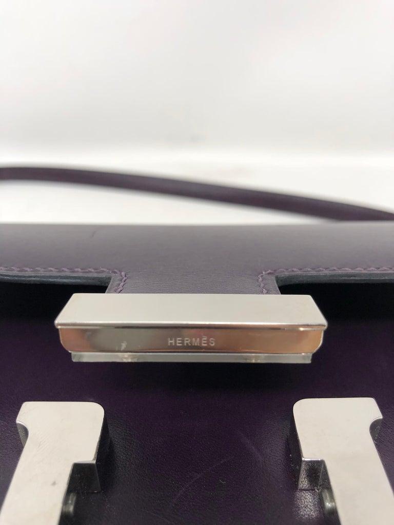 Hermes Mini Constance 18 Purple Bag For Sale 6