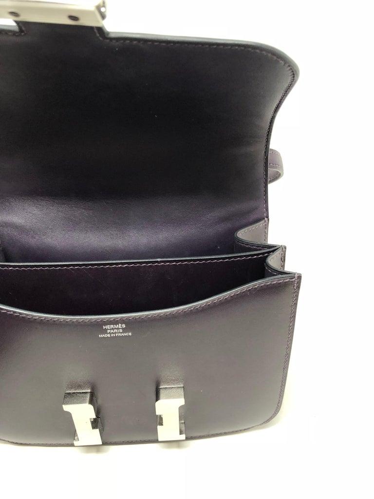 Hermes Mini Constance 18 Purple Bag For Sale 1