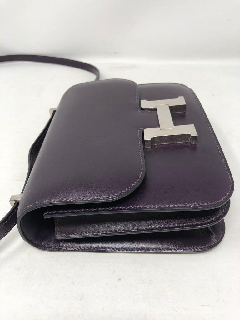 Hermes Mini Constance 18 Purple Bag For Sale 10
