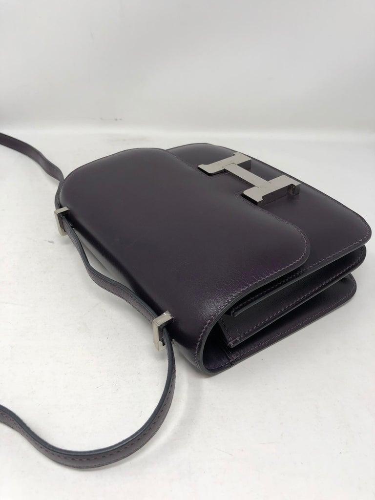 Hermes Mini Constance 18 Purple Bag For Sale 11