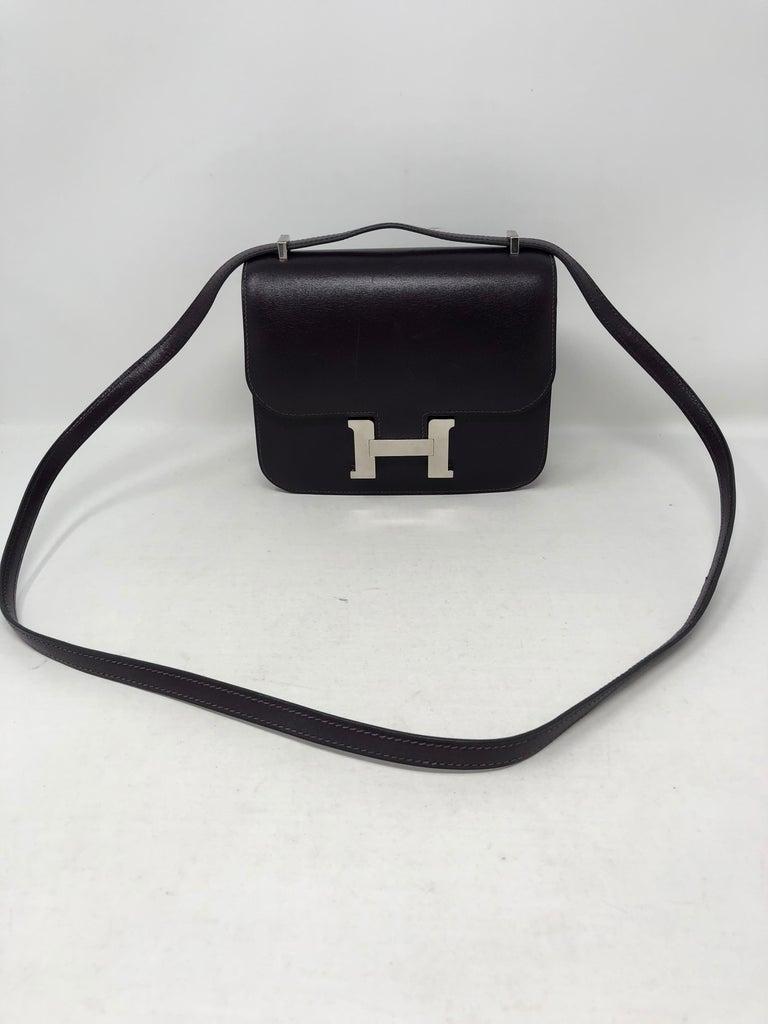 Women's or Men's Hermes Mini Constance 18 Purple Bag For Sale