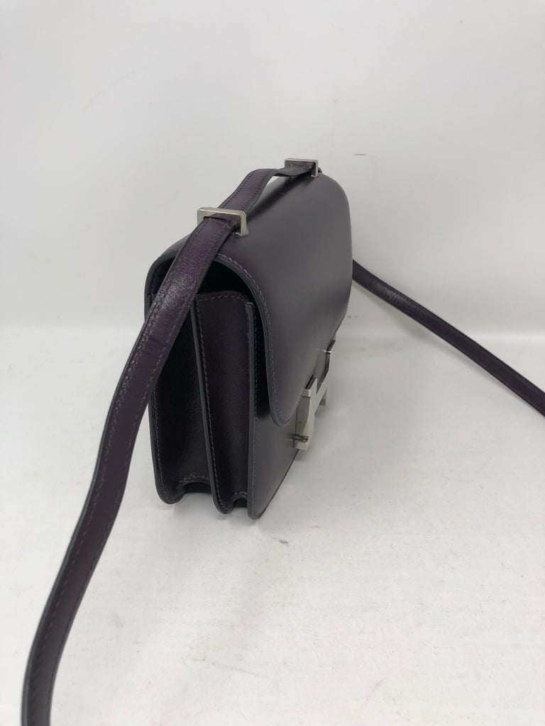 Hermes Mini Constance 18 Purple Bag For Sale 4