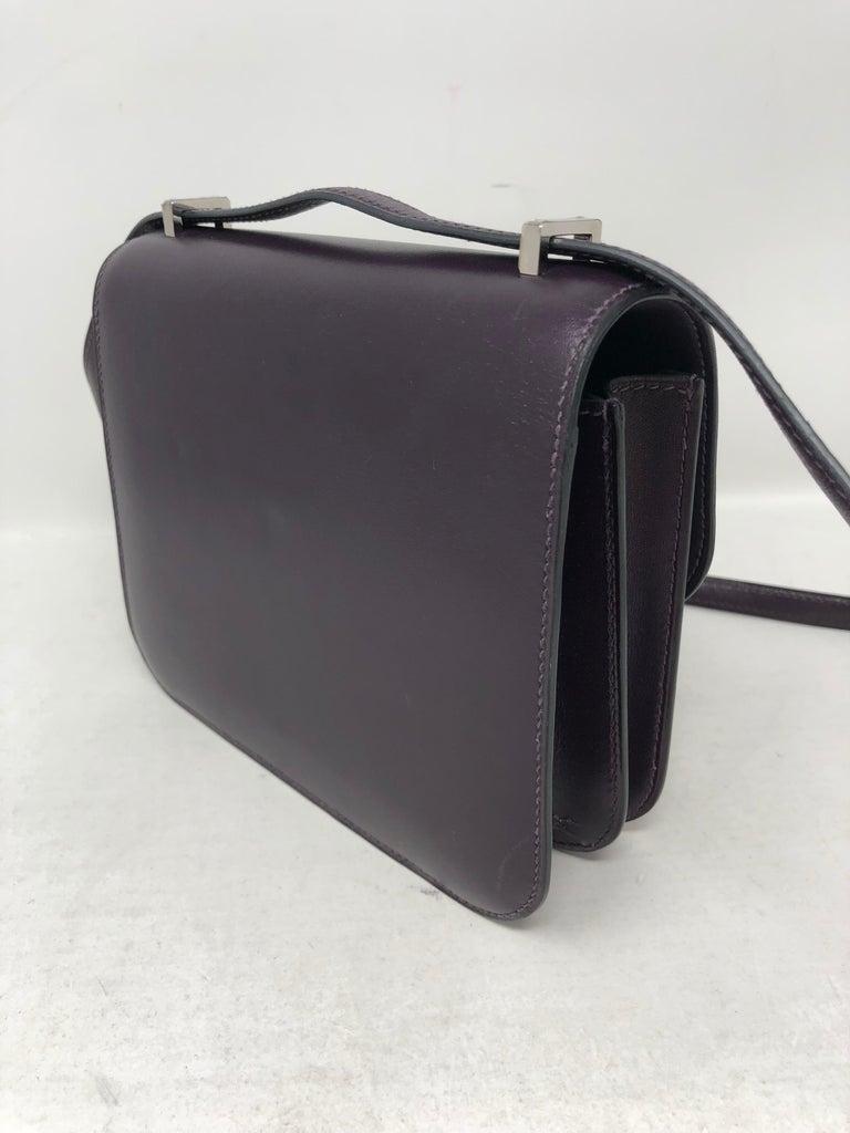Hermes Mini Constance 18 Purple Bag For Sale 2