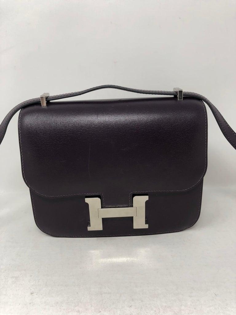 Hermes Mini Constance 18 Purple Bag For Sale 3